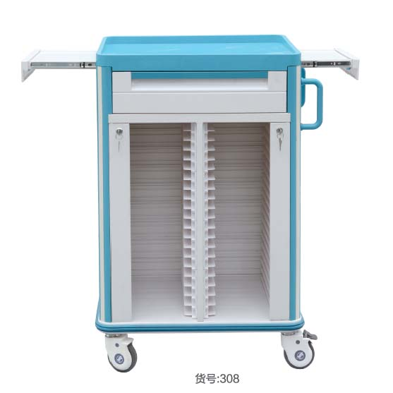 Double sides Medical Record Holder Trolley KX-308