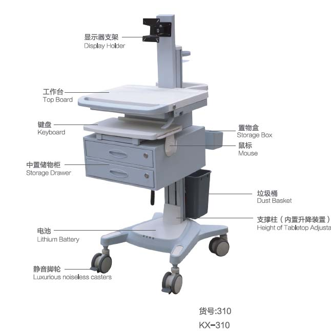 Movable Trolley with computer KX-310